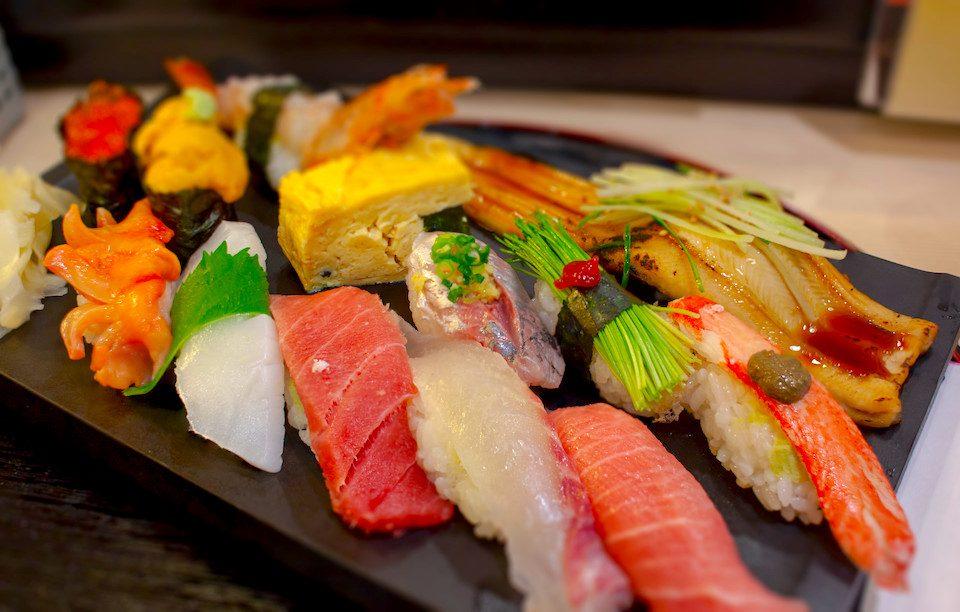 Sushi breakfast at Tsukiji