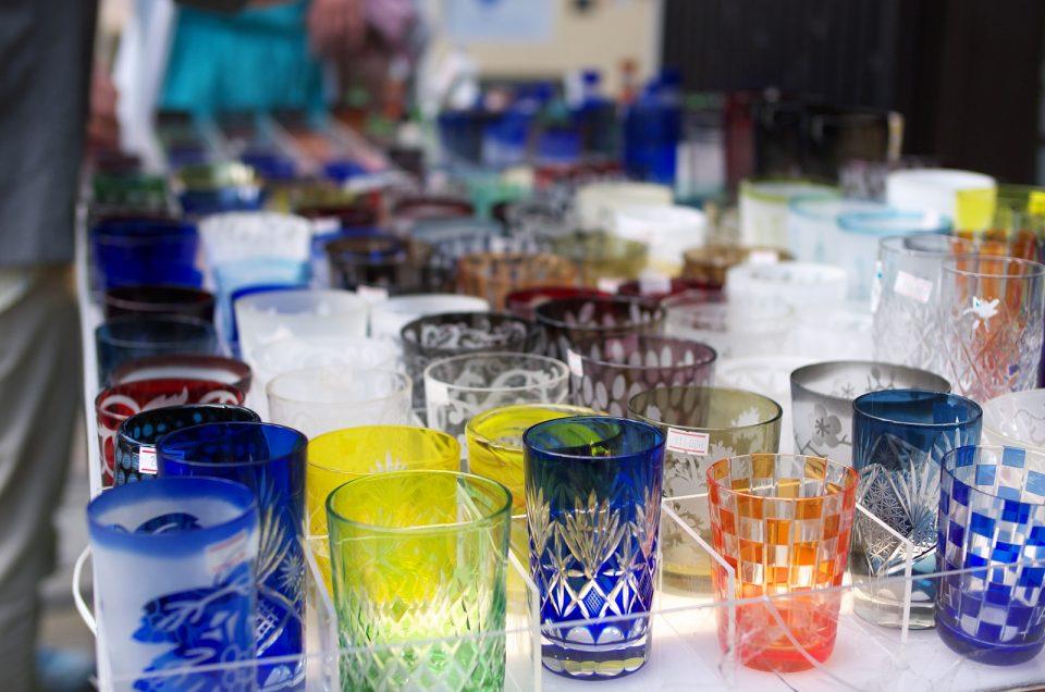 Kiriko glass cutting